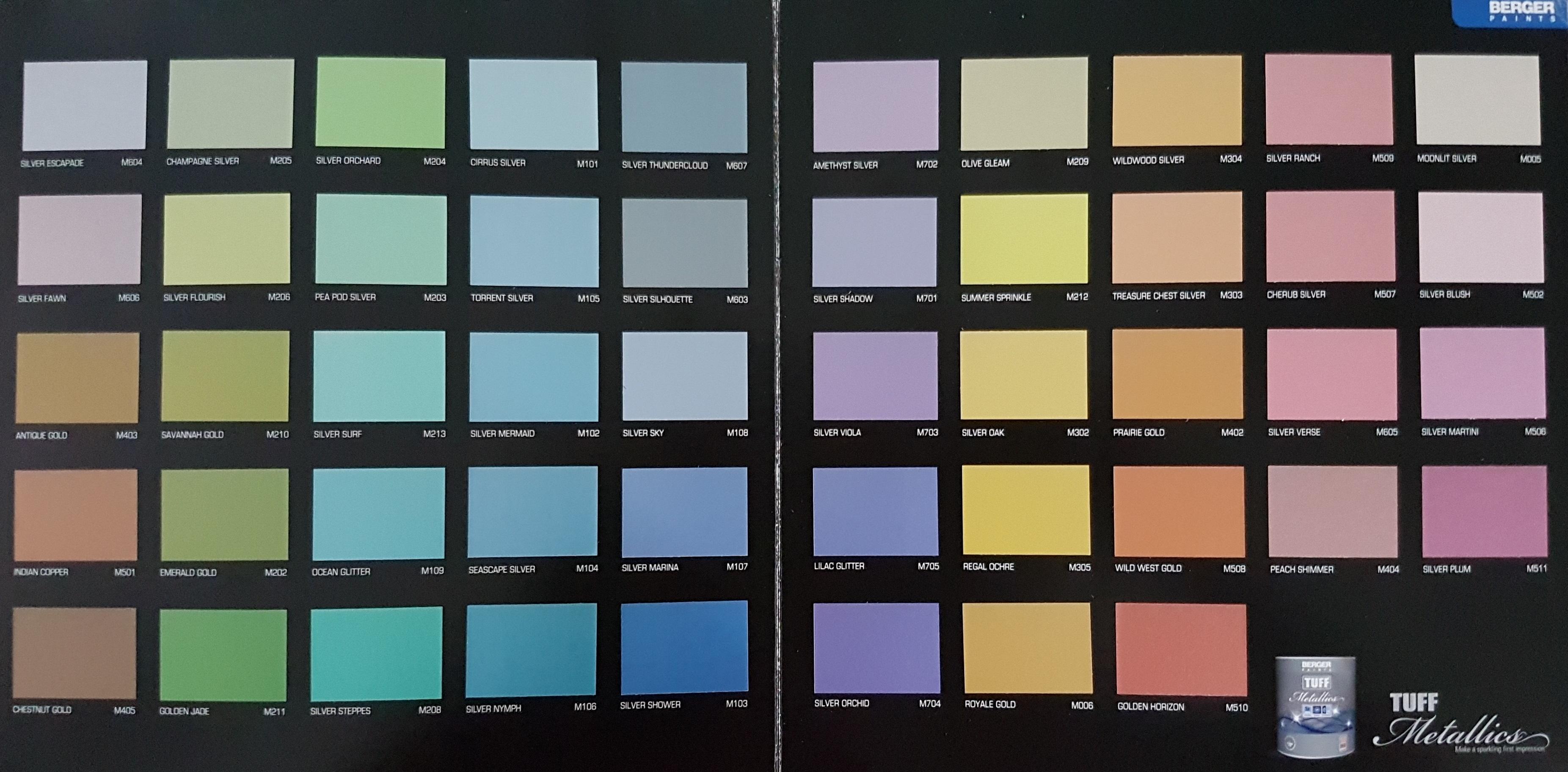 Berger Paints Colour Shades With Names Of - Paint Color Ideas